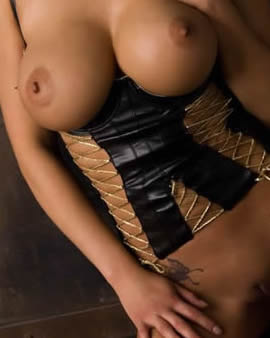 playboys big boobs asian model julri walters in black corsette