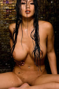 playboys big boobs asian model julri walters wet asian boobs
