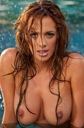 sexy nude model & playboy cybergirl of the year sharae spears with wet boobs